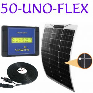 semi-flexible solar panel kit