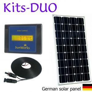 Kits de panneaux solaire. Premium. Deux batteries