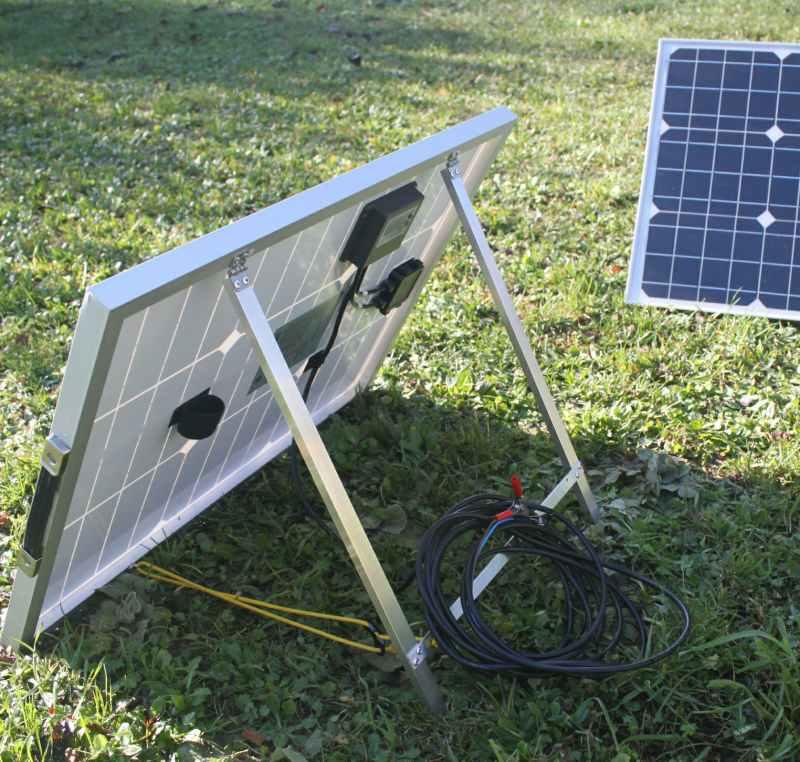 panneau solaire portable de 50 watts sunworks. Black Bedroom Furniture Sets. Home Design Ideas