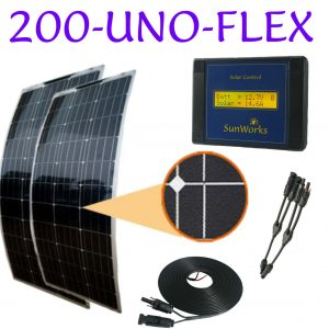 kit panneaux solaires semi-flexibles