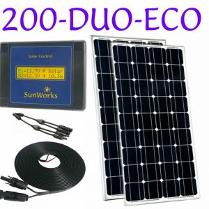 Panneau solaire de deux batteries