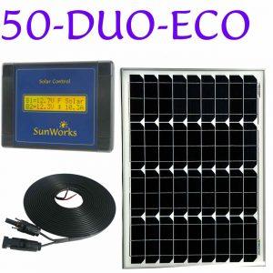 kit de panneau solaire deux batteries