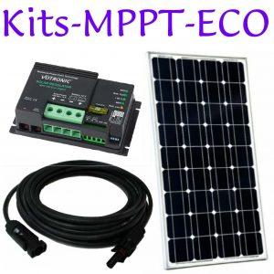 Kits de panneaux solaires. MPPT. Deux batteries