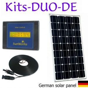 Kits de panneaux solaires. Premium. Deux batteries