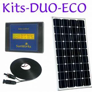 Kits de panneaux solaires. Deux batteries